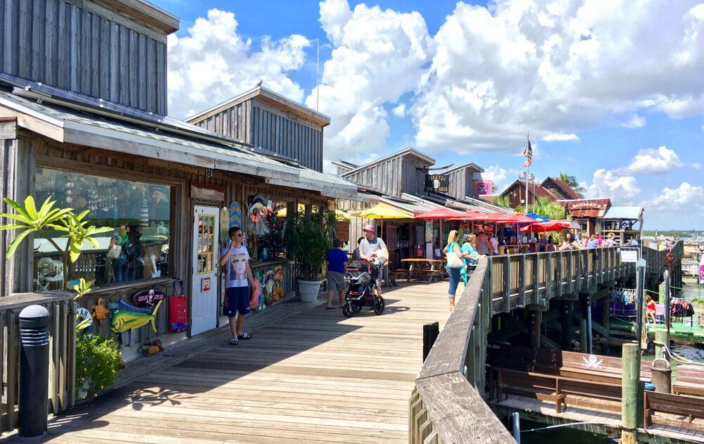 Come explore the souvenir shops near Shoreline Island.